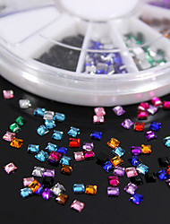 cheap -600PCS Colorful Square Flatback Acrylic Gems Handmade DIY Craft Material/Clothing Accessories