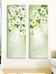 cheap -E-HOME® Stretched LED Canvas Print Art  Flower Flash effect LED Set of 2