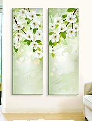 Недорогие -Картины с LED подсветкой ботанический 2 панели С картинкой Декор стены Украшение дома