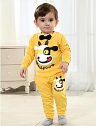 Primavera conjunto infantil e manga longa Outono define camiseta e calça bebê definir dois conjuntos de peças