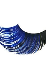 Недорогие -готический королева синий и черный градиент карнавальные ресницы