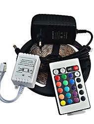 Недорогие -Пульт дистанционного управления jiawen® 5м 300x3528 SMD RGB LED полосы света и 24key и 2а ЕС питания (AC110-240V)