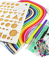 Colorful Quilling Paper DIY Craft Art Decoration Kit Funny and Creative(7pcs/Set)