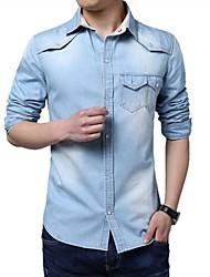 мужская мода джинсовые рубашки