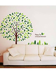 cheap -Wall Stickers Wall Decals, Style Happy Tree PVC Wall Stickers