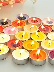 runde små stearinlys et stykke (tilfældige farver) bryllup favoriserer smukke