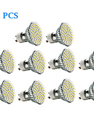 cheap -3W GU10 LED Spotlight 60 leds SMD 3528 Warm White Cold White 300-350lm 3500/6000K AC 220-240V