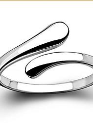 Недорогие -Жен. Кольцо Заявление Серебряный Стерлинговое серебро Классический Открытые Свадьба Для вечеринок Бижутерия Любовь