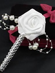 Недорогие -Свадебные цветы Розы Бутоньерки Свадьба Партия / Вечерняя Атлас Стразы