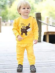 primavera y otoño conjunto de ropa juegos infantiles larga camiseta manga y pantalones del bebé ropa del bebé fijó conjuntos twinset bebé