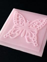 economico -pizzo farfalla goffratura muore torta al cioccolato fondente silicone pad muffa, strumenti di decorazione Cupcake, l6.8cm * w6.8cm * h0.3cm