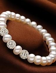 abordables -elegantes elegantes perlas de agua dulce pulseras estilo elegante