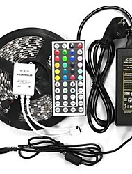 Недорогие -водонепроницаемый 5 м 300x5050 SMD светодиодные ленты лампы IP65 DC 12V 44 клавиши ИК контроллер + 12v 6A ЕС адаптер питания