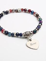 abordables -cadeau personnalisé bracelets pierre naturelle cristal bracelet brin tourmaline noire pour les enfants