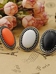cheap -Women's Statement Ring - Alloy Vintage, Fashion, Elegant One Size White / Black / Orange For Party / Daily / Casual
