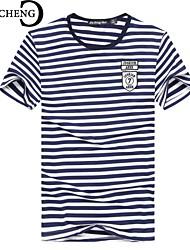 Majica s rukavima Muškarci Dnevno Sport Jednobojni Prugasti uzorak Kratkih rukava Pamuk