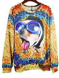 cheap -Men's Animal Print Sweatshirt - Print Dog, Modern Style