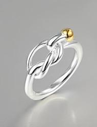 Классические кольца Стерлинговое серебро Мода Заявление ювелирные изделия Серебряный Бижутерия Для вечеринок 1шт