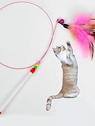 Cat Toy Pet Toys Teaser Feather Toy Stick Textile