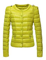 Недорогие -kakani женщин европейская мода сплошной цвет хлопка пальто