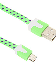 USB 2.0 Mikro USB 2.0 Flad Flettet Kabel Til 200 cm Nylon