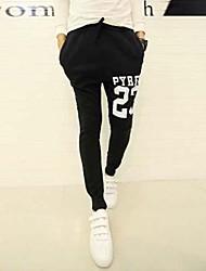 Недорогие -мужские осенние Корейский Харен движения печати новый тонкий ноги треники