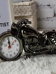 Fashion Home Office Decor Motorcycle Model Travel Desk Alarm Clock