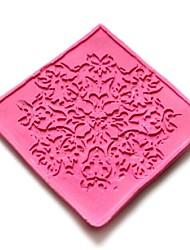 economico -pizzo goffratura muore torta al cioccolato fondente silicone pad muffa, strumenti di decorazione Cupcake, l6cm * w6cm * h0.3cm