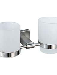 Porta spazzolini / Nickel spazzolato Acciaio inossidabile /Contemporaneo