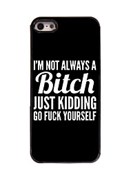 cheap -Case For iPhone 5 / Apple iPhone 5 Case Pattern Back Cover Word / Phrase Hard PC for iPhone SE / 5s / iPhone 5