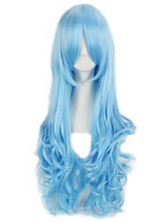 parrucca cosplay del partito del club onda lunga parrucca sintetica colorata pop per le signore