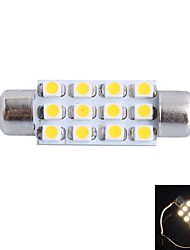 Недорогие -gc® 39mm 3W 150lm 3000K 12x3528smd теплый белый привело к автомобиль чтения / номерной знак / дверь свет лампы (dc12v)