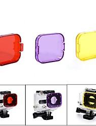 Недорогие -Погружение фильтр Для Экшн камера Gopro 5 Gopro 3 Gopro 2 Дайвинг пластик