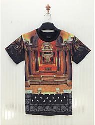 povoljno -Majica s rukavima Muškarci-Chic & Moderna 3D ispis Moderna