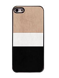 Недорогие -Кейс для Назначение iPhone 5 Apple Кейс для iPhone 5 С узором Кейс на заднюю панель Полосы / волосы Твердый ПК для iPhone SE/5s iPhone 5