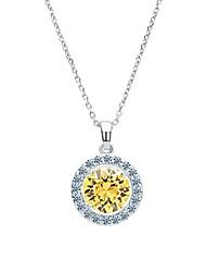 Недорогие -s&v латунь с кубическими ожерельем из циркония (больше цветов) элегантный стиль