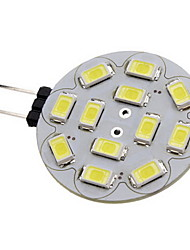 cheap -2W 180-210 lm G4 LED Spotlight 12 leds SMD 5730 Warm White Cold White DC 12V