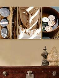 e-Home® la statue e pietra orologio in tela di canapa 3pcs