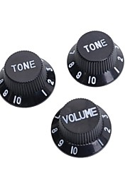 Недорогие -черный&белые ручки контроля скорости гитара для страт стиле электрогитара 50set / Много (1 объем&2 тон комплект)