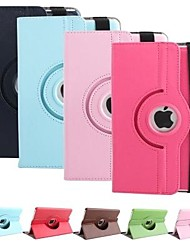 preiswerte -Apfel iPad mini/iPad mini 2/iPad mini 3 - 360⁰ Cases/Smart-Covers (PU Leder , Rot/Schwarz/Weiß/Grün/Blau/Braun/Rosa/Purpur/Marineblau) - Einfarbig