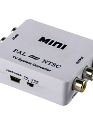 abordables -Mini ntsc-pal al convertidor sistema tv