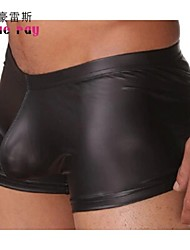 cheap -Men's Low Waist Tight Nylon/Patent Leather Boxers