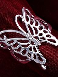 abordables -Femme Argent sterling Papillon Anneau de déclaration - Animal Bague Pour Mariage / Soirée / Quotidien