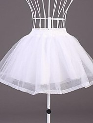 cheap -Wedding Special Occasion Slips Polyester Organza Short-Length A-Line Slip With Lace