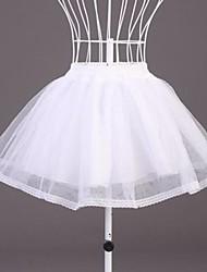abordables -Cérémonie de mariage Occasion spéciale Déshabillés Polyester Organza Longueur courte Robe trapèze Avec Dentelle