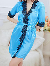 cheap -SKLV Women's Lace/Ice Silk Lace Lingerie/Robes/Ultra Sexy/Suits Nightwear