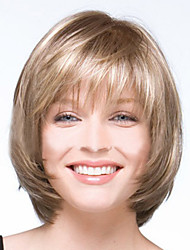 cheap -european and american new light golden color short wig and white mix