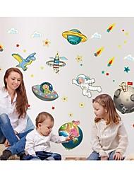 decalcomanie adesivi murali della parete luminosi, adesivi murali in stile astronave pvc