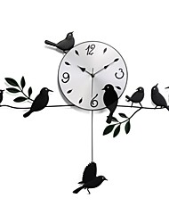 cheap -Fashionable Pastoral Style Bird Pendulum Clock XDT-123