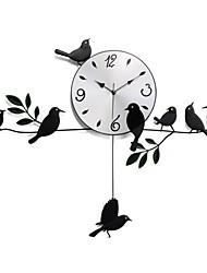 Недорогие -Настенные часы - Алюмин - Модерн/Деревенский/Повседневный/Ретро - Новинки